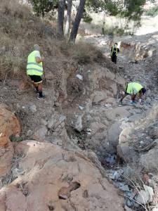 El Ayuntamiento inicia la limpieza del Monte de San Miguel y de barrancos para prevenir ante posibles gotas frías