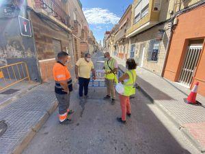 Renovación de las redes de agua potable y alcantarillado en las calles Capuchinos y Santiago