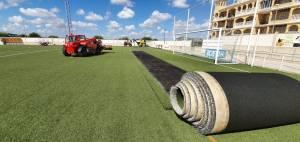 Algorfa invierte cerca de 250.000 euros en mejorar el polideportivo municipal Juan Carlos I