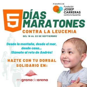Cinco maratones en cinco días: el reto de un bigastrense contra la leucemia