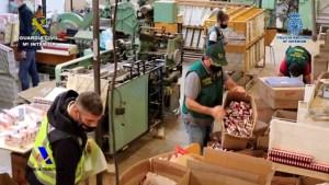 Desmantelan una fábrica ilegal de tabaco en Albatera con capacidad para producir 18.000 cigarrillos por minuto