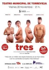Suspendida la obra 'Tres, programada para este viernes en Torrevieja