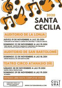 Cultura Orihuela programa cinco conciertos gratuitos para celebrar Santa Cecilia