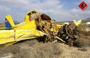 Una avioneta impacta contra una pista privada en Torremendo