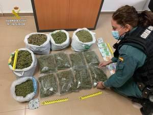 Más de 14 kilogramos de marihuana son incautados en dos controles perimetrales en Orihuela