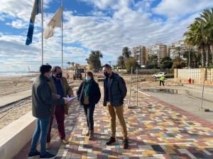 Comienza la reparación del paseo marítimo de la playa de La Glea