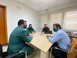 El alcalde recibe al nuevo comandante de la Guardia Civil en Torrevieja
