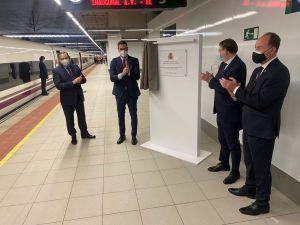 Pedro Sánchez inaugura el AVE a Orihuela que une la ciudad con Madrid en menos de dos horas y media