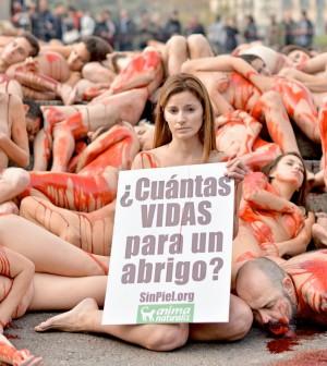 Resultado de imagen para mujeres desnudas contra uso de pieles