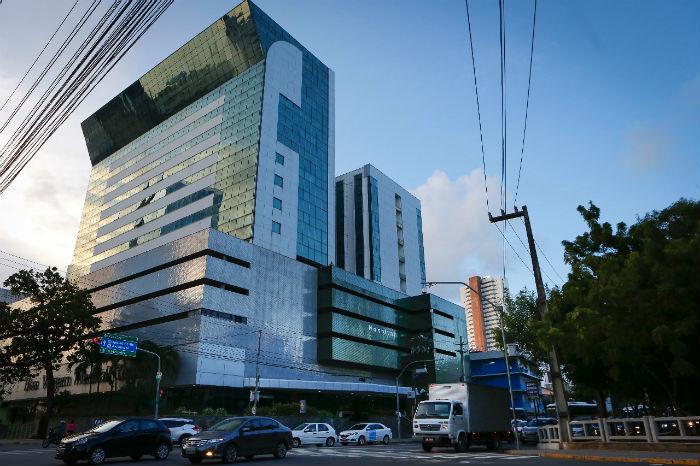 O Hospital Nossa Senhora das Graças será exclusivamente dedicado à Covid-19. (Foto: Heudes Regis/SEI/Divulgação)