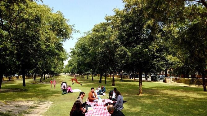 Imagen del proyecto de la zona de pícnic, junto a la Jefatura de la Policía Local.