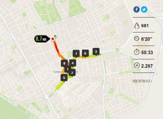 Running: Entrenamiento 20 de octubre