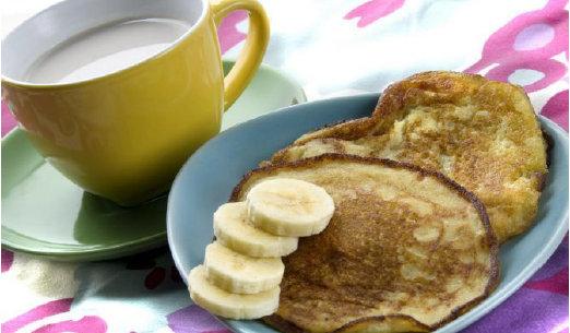 Tortitas de huevo y plátano
