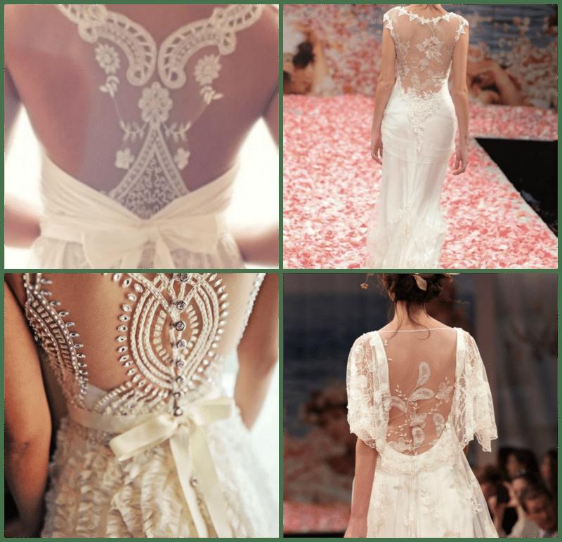 vestido de novia con espalda descubierto