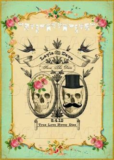 Save the Date Halloween Vintage