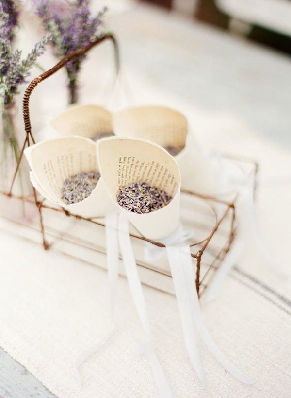 Conos de lavanda para bodas