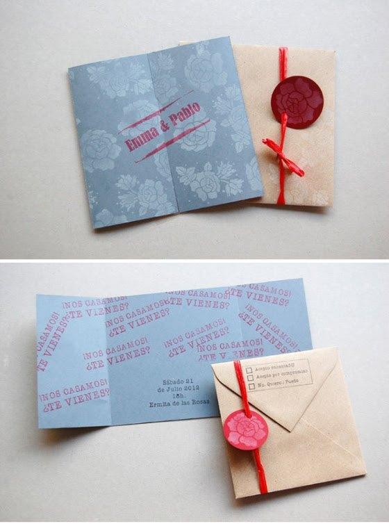 invitaciones de boda diy