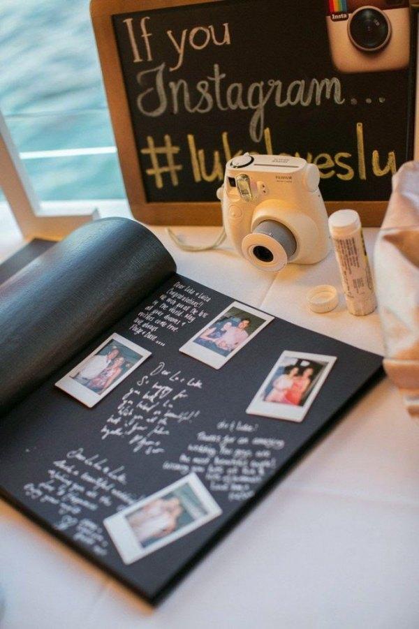 Polaroid Fujifilm en boda