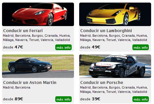 Conducir un Ferrari - regalos originales para hombres