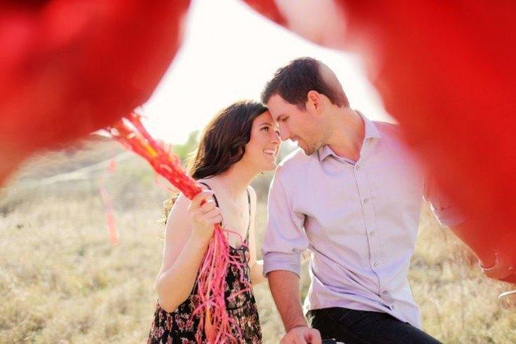 pre boda inspirada en San Valentin close up con globos