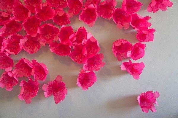 Diy guirnaldas de flores de papel de seda