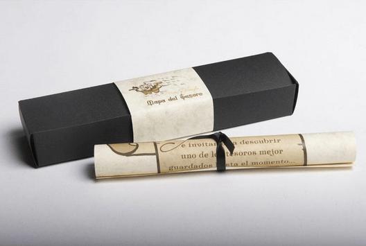 invitacion de bodas baratas con pergamino