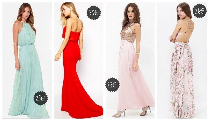 vestidos de fiesta baratos de noche