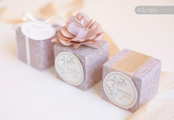cajitas diy para envolver los regalos de boda con papel decorativo