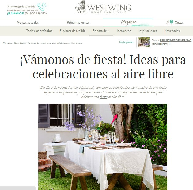 Decoración al aire libre Westwing