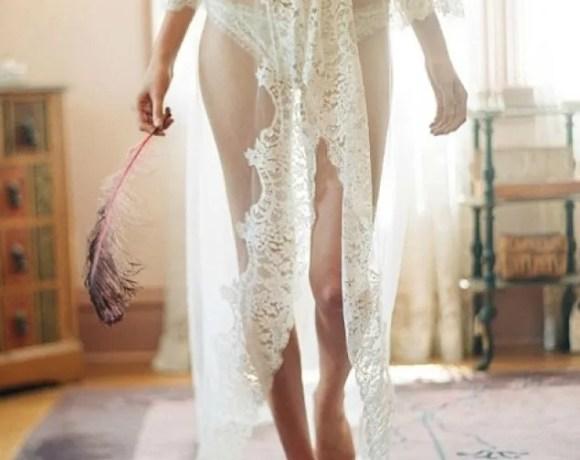 Lencería de novia con encajes
