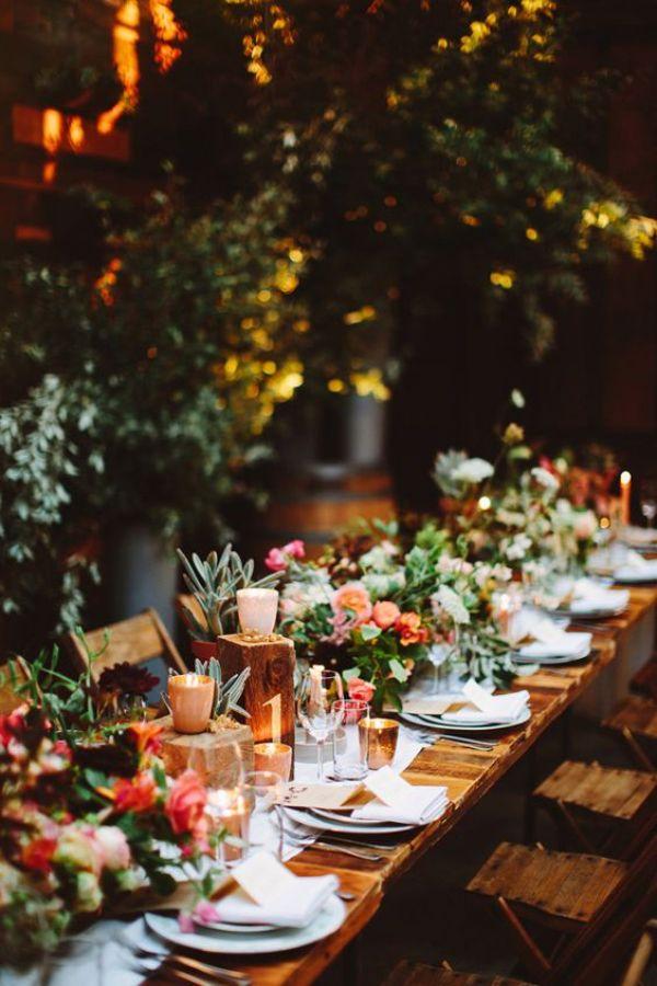 mesas alargadas para bodas