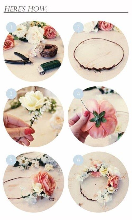 como hacer una corona de flores boho