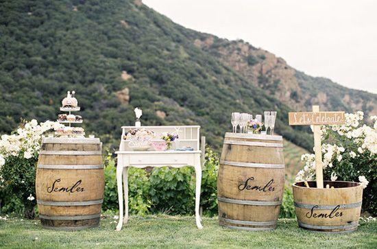 decoración de bodas rusticas mueble vintage - Ideas para la Decoración de Bodas Rústicas