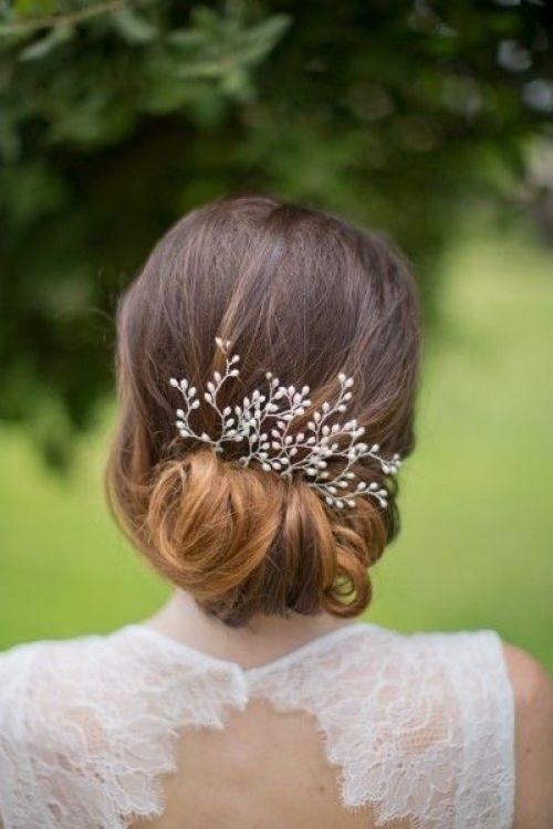 recogido bajo con tocado para novias - Recogidos Bajos para Bodas