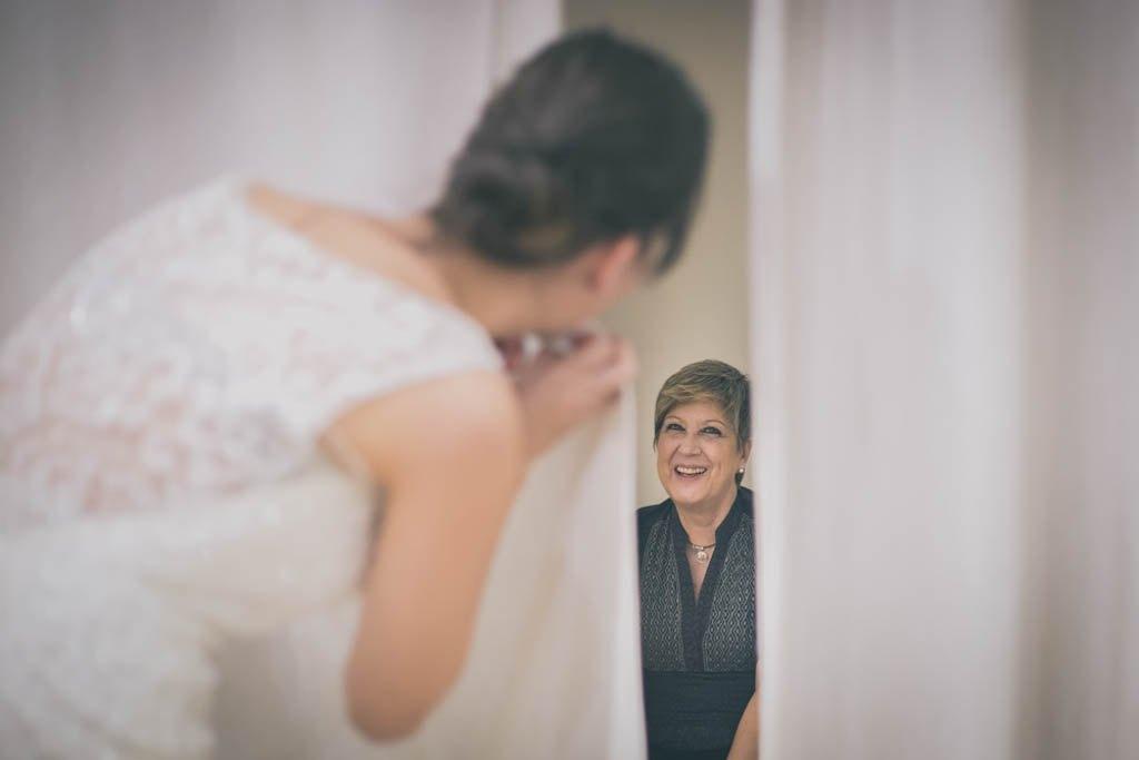 La primera prueba del vestido de novia