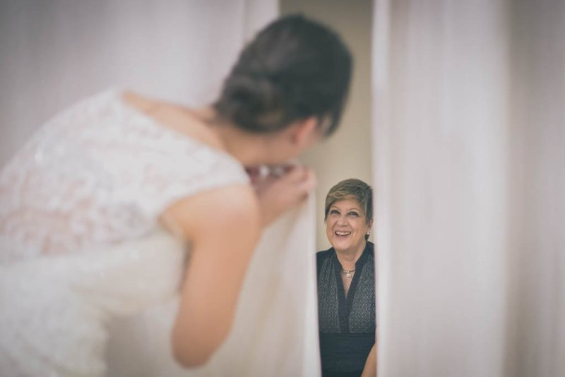 Las primeras pruebas del vestido de novia