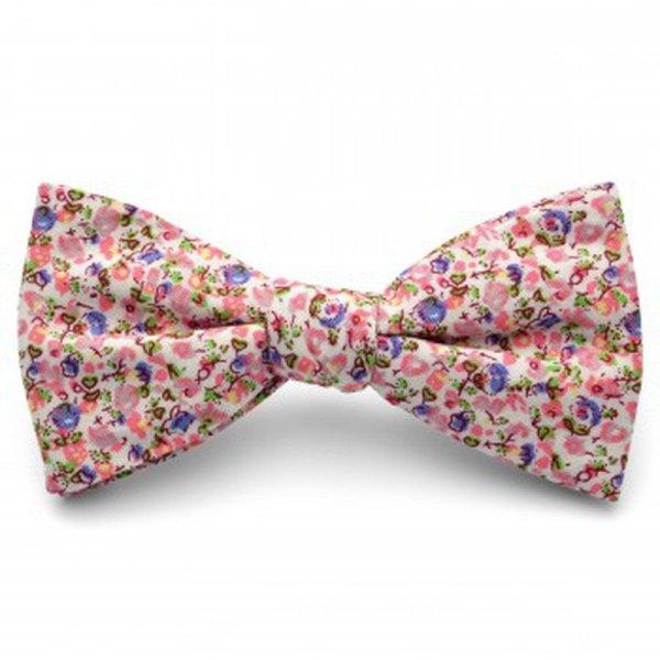 corbatas y pajaritas hipsters florales