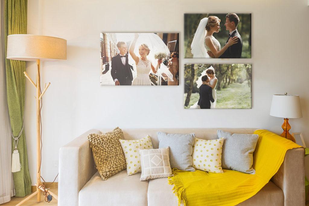 decorar casa con fotos de la boda