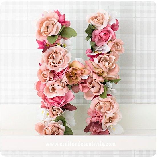 Como Hacer Letras Decoradas Con Flores Diario De Una Novia