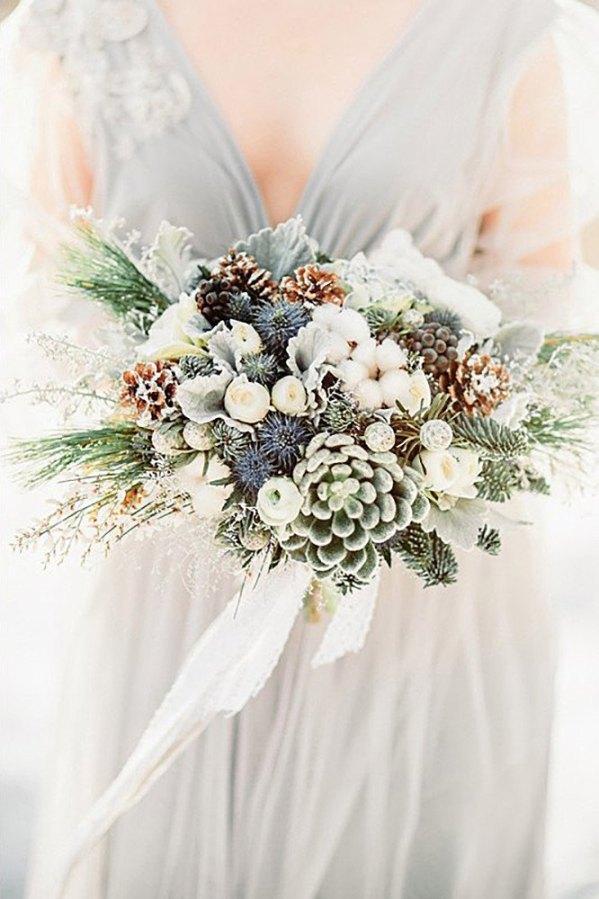 Inspiración ramos de novia para invierno