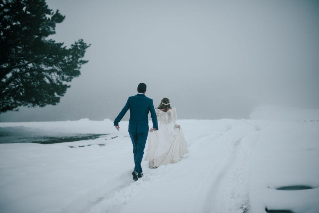 postboda en la nieve Tania y Rober 14 - Postboda en la Nieve del Valle de Arratia