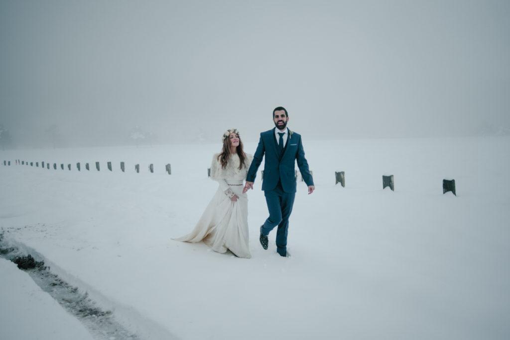 postboda en la nieve Tania y Rober 16 - Postboda en la Nieve del Valle de Arratia