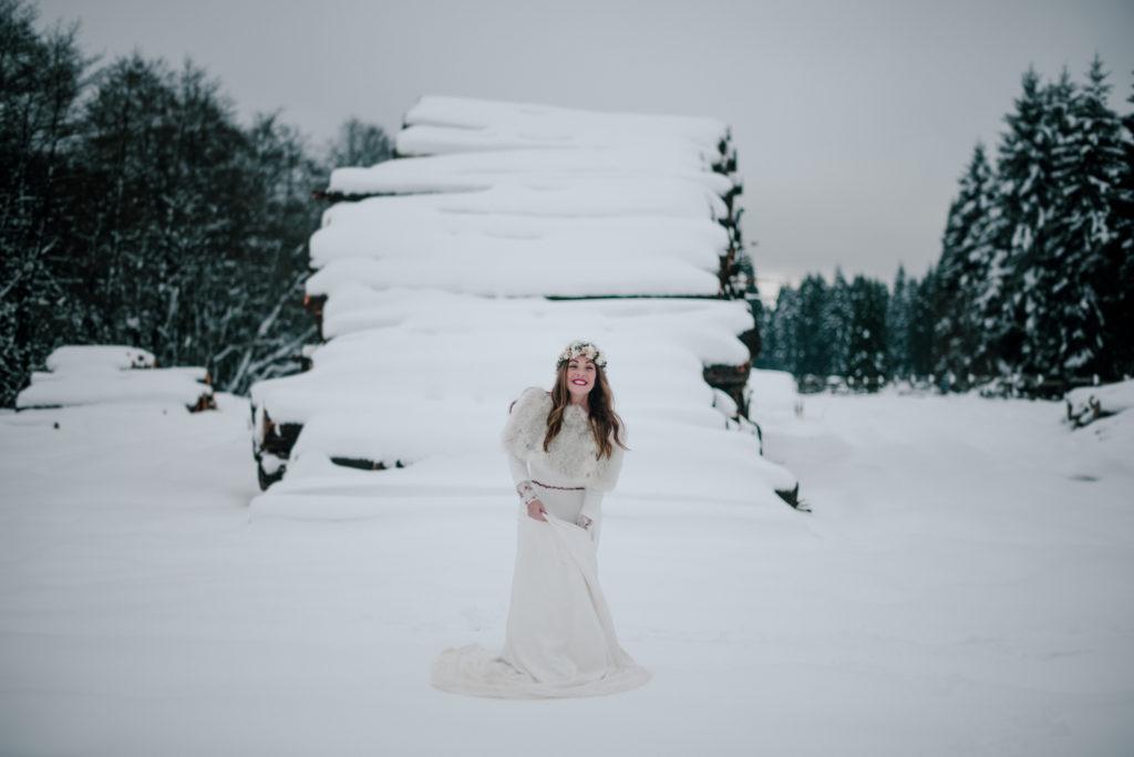 postboda en la nieve Tania y Rober 4 - Postboda en la Nieve del Valle de Arratia