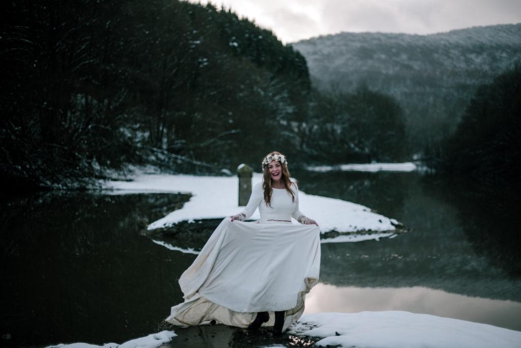 postboda en la nieve Tania y Rober 7 - Postboda en la Nieve del Valle de Arratia