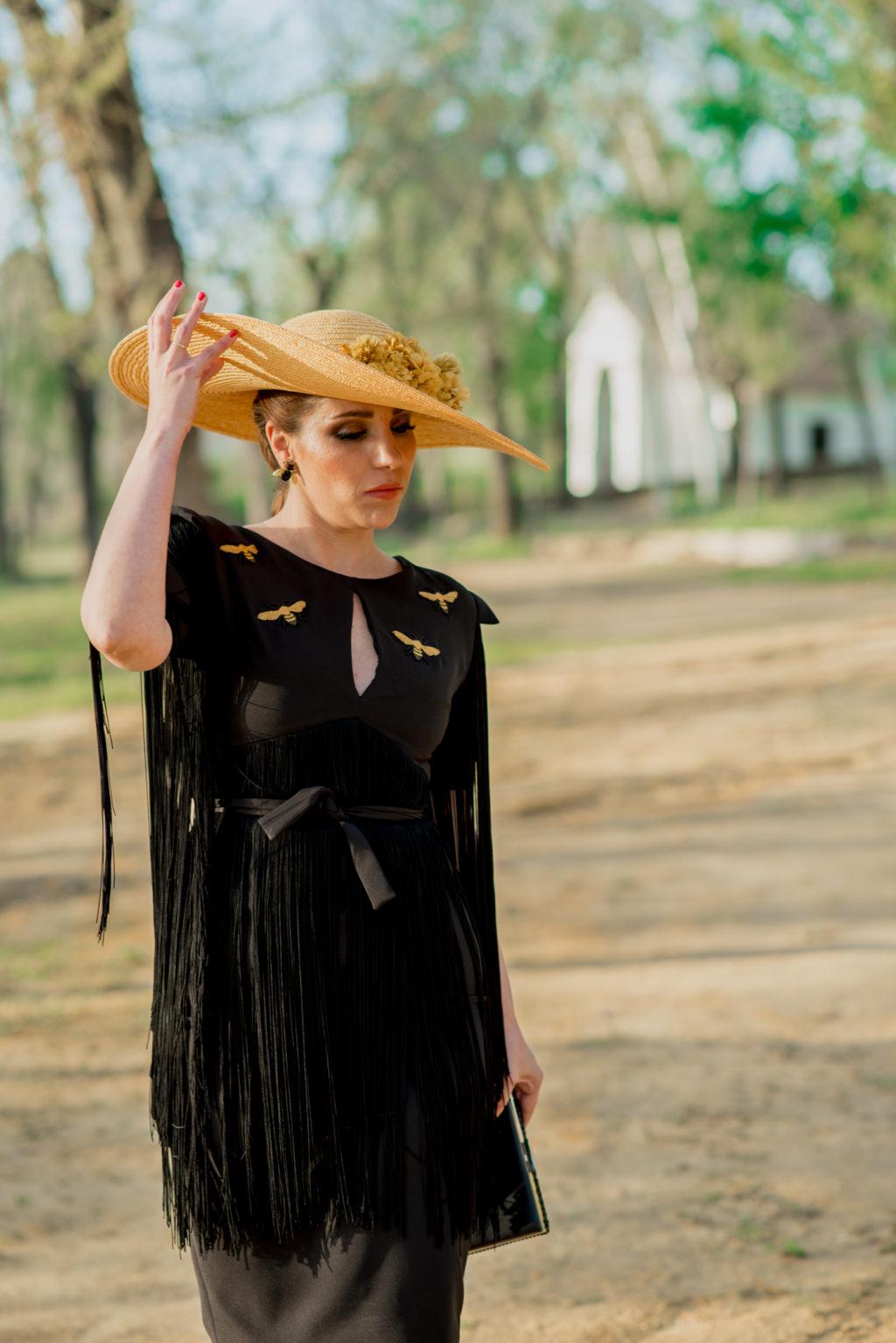 Margarita vestido negro 1000 - Novias e Invitadas de Inma Linares