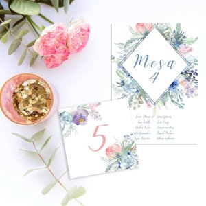 Meseros y Seating plan Wild Blue para Bodas
