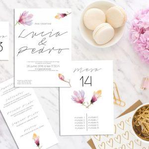 Pack Papelería Magnolia - Diario de Una Novia Shop Online