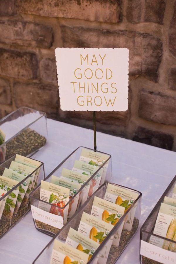 regalos originales semillas - Una Larga Lista de Regalos de Boda