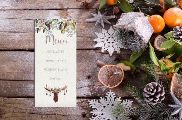 Minutas Navidad Reno - Minutas Navideñas