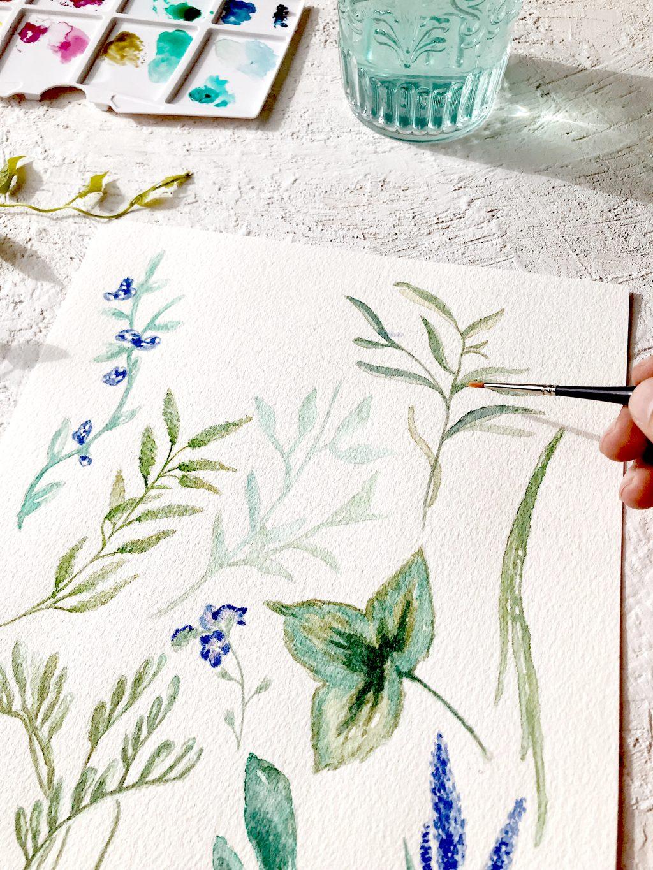 acuarela personalizada botanica jacintos silvestres marmarina - Marmarina, Creadores de Papelería de Alta Calidad